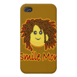 Cara del smiley de Rasta del fuego de lunes de la  iPhone 4/4S Carcasa