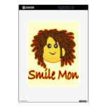 Cara del smiley de Rasta del fuego de lunes de la  Calcomanía Para El iPad