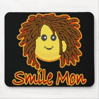 Cara del smiley de Rasta del fuego de lunes de la  Tapetes De Ratón
