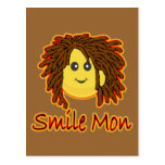 Cara del smiley de Rasta del fuego de lunes de la  Postal