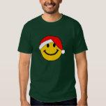 Cara del smiley de Santa del navidad Camisas