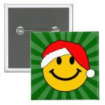 Cara del smiley de Santa del navidad Pin