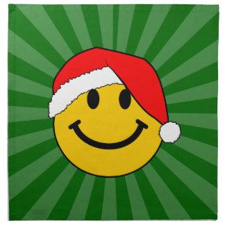 Cara del smiley de Santa del navidad Servilleta De Papel