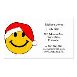 Cara del smiley de Santa del navidad Tarjeta Personal