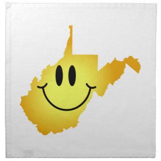 Cara del smiley de Virginia Occidental Servilletas