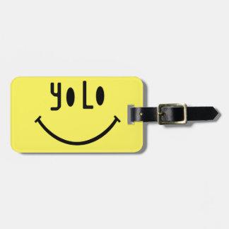Cara del smiley de Yolo Etiquetas Maletas