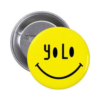 Cara del smiley de Yolo Pins