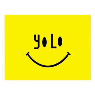 Cara del smiley de Yolo Postal