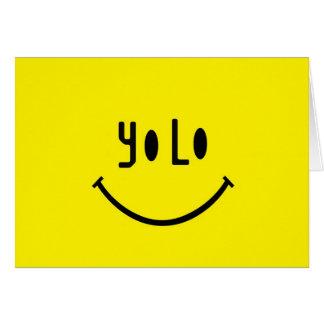 Cara del smiley de Yolo Tarjeta
