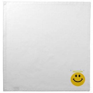 Cara del smiley del ángel servilletas de papel