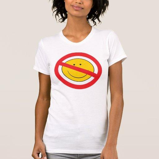 Cara del smiley del Anti-Smiley Camisetas