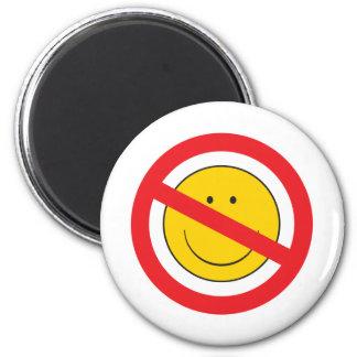 Cara del smiley del Anti-Smiley Imán Redondo 5 Cm