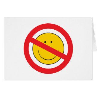 Cara del smiley del Anti-Smiley Tarjeta De Felicitación