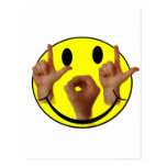 CARA DEL SMILEY DEL ASL LOL POSTAL