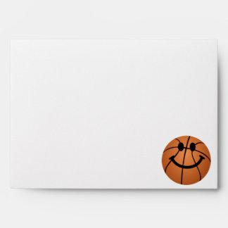 Cara del smiley del baloncesto