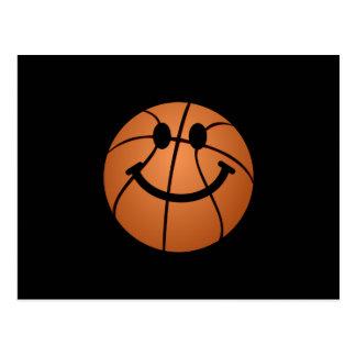 Cara del smiley del baloncesto postal