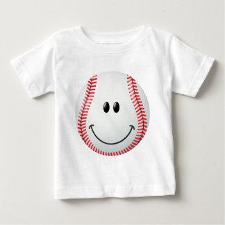 Cara del smiley del béisbol remera