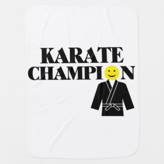 Cara del smiley del campeón del karate mantitas para bebé