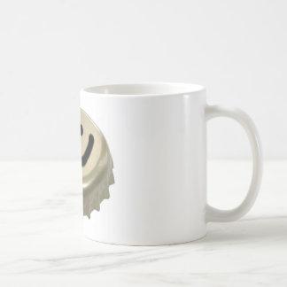 Cara del smiley del casquillo de la botella de cer tazas de café