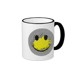 Cara del smiley del desbloqueo tazas