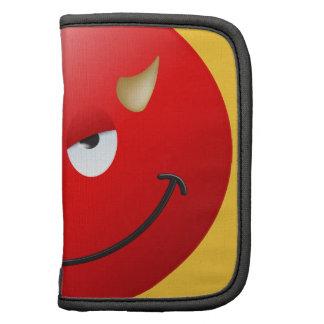 Cara del smiley del diablo planificador