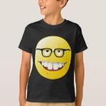 Cara del smiley del empollón camisas