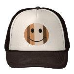 Cara del smiley del estilo del arte pop gorras de camionero