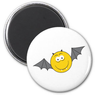 Cara del smiley del palo de vampiro imán redondo 5 cm