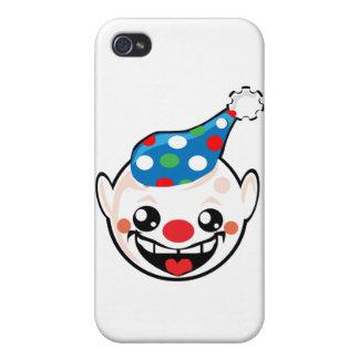 cara del smiley del payaso iPhone 4 carcasa