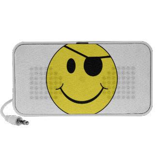 Cara del smiley del remiendo del ojo iPod altavoces