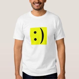 Cara del smiley del texto del ASCII Polera
