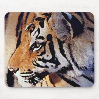 Cara del tigre alfombrilla de ratones
