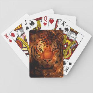 Cara del tigre naipes