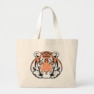 Cara del tigre bolsa de mano