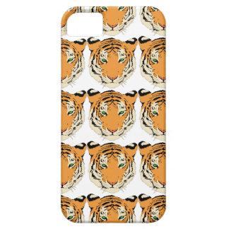 Cara del tigre con el modelo animal de la fauna de iPhone 5 Case-Mate funda