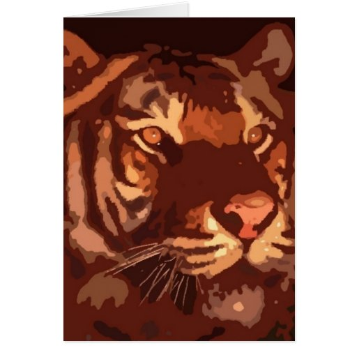 Cara del tigre de Blacklight Tarjeta De Felicitación