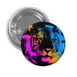 Cara del tigre de la nueva ola del tigre 80s de Co Pin Redondo 2,5 Cm