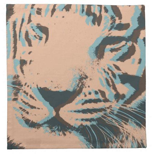 Cara del tigre del arte pop servilletas