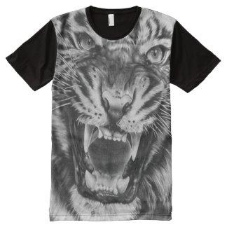 Cara del tigre del bosquejo