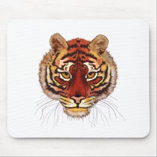 Cara del tigre mouse pads
