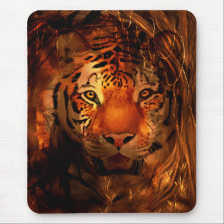 Cara del tigre mousepads