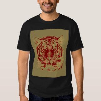 Cara del tigre playera