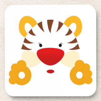 Cara del tigre posavasos de bebida