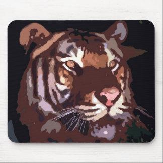 Cara del tigre tapete de raton