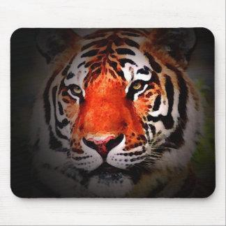 Cara del tigre tapete de ratón