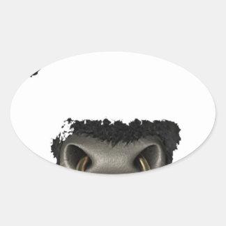 cara del toro llena colcomanias oval personalizadas