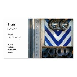 Cara del tren tarjetas de visita