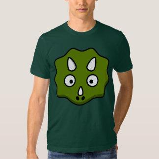 Cara del triceratops del dibujo animado poleras