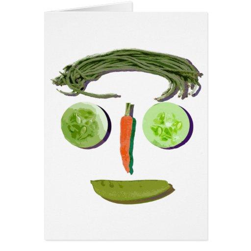 Cara del Veggie Tarjeta