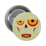 Cara del zombi - botón apretado de los dientes pin